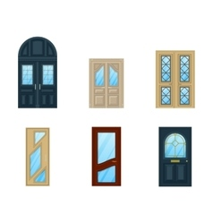 Set of interior apartment doors design vector image
