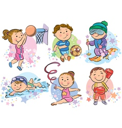 Sports kids vector