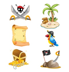 Things related to a pirate vector image vector image