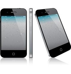 Touchscreen smartphone concept vector