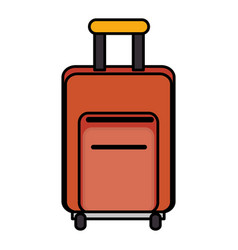 Travel suitcase isolated icon vector