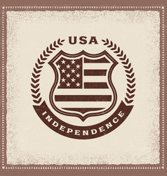 Vintage independence label vector