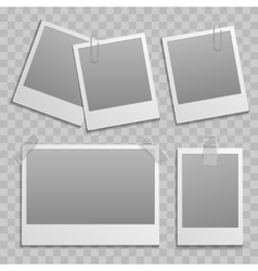 Vintage photo frame different size template with vector image vector image