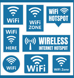 wifi signs set wireless icons vector image vector image