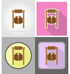wild west flat icons 13 vector image