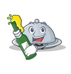 With beer tray character cartoon style vector