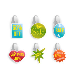 Wobbler set with advertising sale text vector