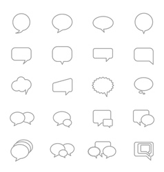 Speech bubble icons line set vector