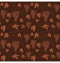 Wine grapes Seamless pattern vector image