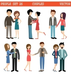 Loving couples men and women vector