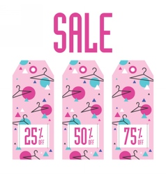 Set of sale tags different discount value vector
