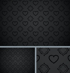 Black vintage poker hearts distressed background vector