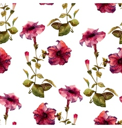 Petunia flower pattern vector