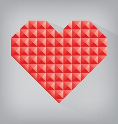 Red retro heart triangle abstract love valentine vector