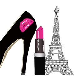 Beauty and Fashion in Paris vector image