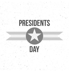 Presidents day sign with text vector
