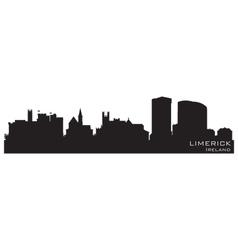 Limerick Ireland skyline Detailed silhouette vector image