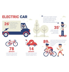 Electric car infographic vector
