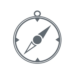 Compass icon isolated black vector
