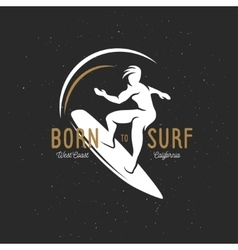 Born to surf t-shirt graphics vintage vector