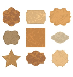 brown old cards frames - set vector image vector image