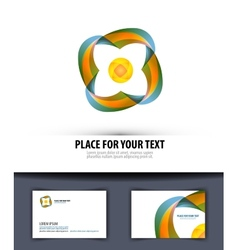Business Logo icon emblem template business card vector image