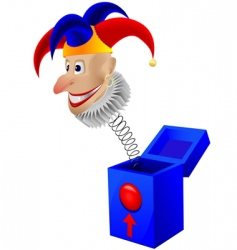 childrens toy the clown vector image
