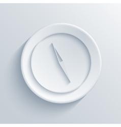 Compass light circle icon vector