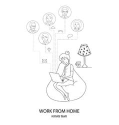 Connect frome home concept vector