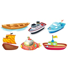 Different boat designs vector image vector image