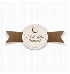Eid al-adha mubarak round label vector