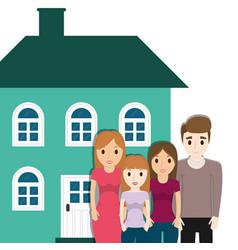 Family home facade image vector