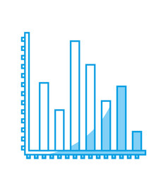 Financial chart icon vector