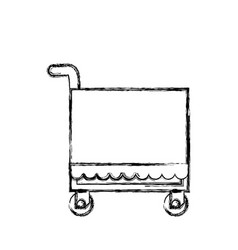 Food service trolley vector