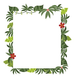 Frame with tropical plants vector