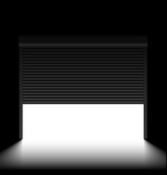 Garage door with rolling shutters inside view vector