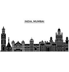 India mumbai architecture urban skyline with vector