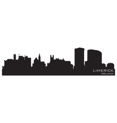 Limerick Ireland skyline Detailed silhouette vector image vector image