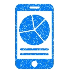 Mobile report grainy texture icon vector