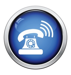 Old telephone icon vector image vector image
