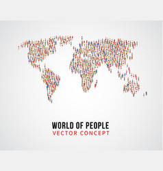 people global connection earth population on vector image
