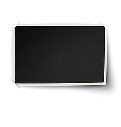 Photo frame with one not fixed corner vector