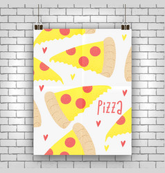 Pizza slice concept vector