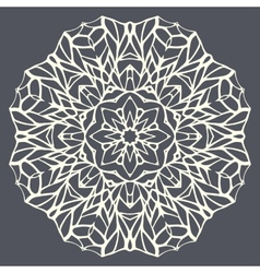 Round mandala kaleidoscopic lace ornamental vector image