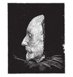 Shakespeare death mask left side vintage vector