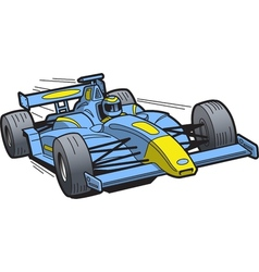 Speeding Race Car vector image vector image