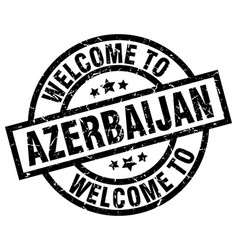 welcome to azerbaijan black stamp vector image vector image