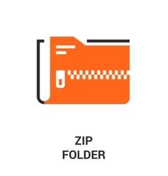 Zip folder icon vector