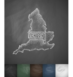 England icon Hand drawn vector image