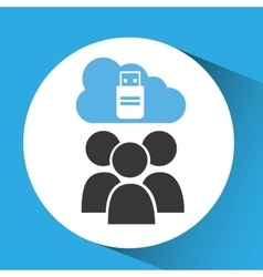cloud computing service usb backup vector image